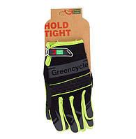Перчатки Green Cycle NC-2373-2014 MTB с закрытыми пальцами S черно-зеленые