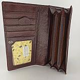 Класичний шкіряний жіночий гаманець / Классический кожаный женский кошелек Tailian T515 crimson, фото 7