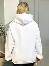 Худі Oversize 903 білий, фото 3