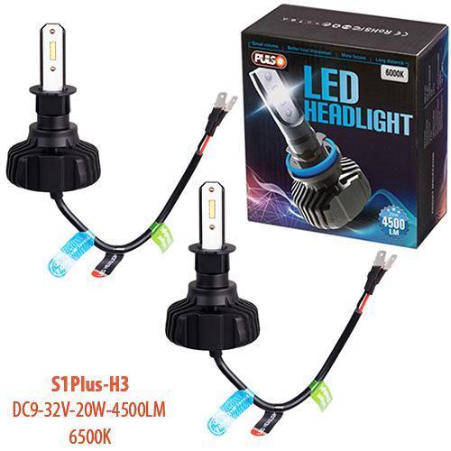 Лампы PULSO S1 PLUS/H3/LED-chips CSP/9-32v2*20w/4500Lm/6500K (S1 PLUS-H3)