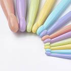 Набор Пластиковых  Крючков для Вязания, с Пластиковой Ручкой, Цвет: Микс, Размер Длина  150мм, Диаметр: 7-13мм, 12шт/набор, фото 3