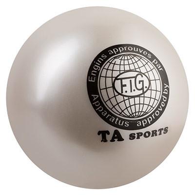 М'яч гімнастичний TA SPORT, 400грамм, 19 см, гліттер, білий