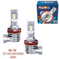Лампы PULSO M4/H8/LED-chips CREE/9-32v/2x25w/4500Lm/6000K (M4-H8)