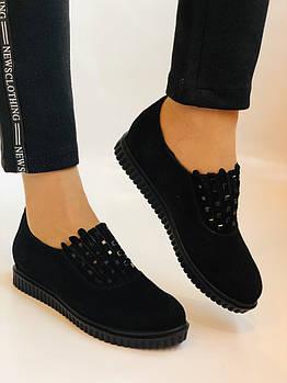 Стильные женские туфли-слипоны . Натуральная замша. Alpino.Турция. Р.37 Vellena
