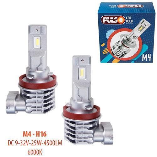 Лампы PULSO M4/H16/LED-chips CREE/9-32v/2x25w/4500Lm/6000K (M4-H16)