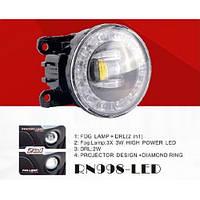 Фары доп.модель Renault/HD/NS/MB/FD/IZ/MZ/SZ/RN-998-LED/2в1/эл.проводка (RN-998-LED 3Led*3W/2W)