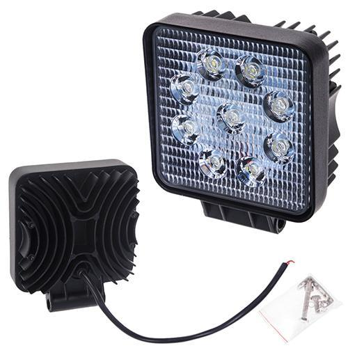 Фара прожектор LML-K0727 FLOOD (9led*3w) 105mm*105mm (K0727 F)