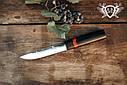"""Нож ручной работы """"Якут алый"""" 140х26х4мм с ручкой из граба, вставки акрил, фото 2"""