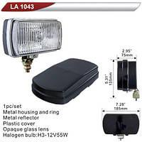 Фара дополнительная  DLAA 1043-W/H3-12V-55W/185*103mm/ВОЛГА/крышка (LA 1043-W)