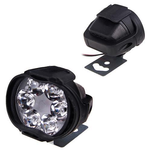Фара прожектор AUR (6led*10w 60х50мм) Mini пластик овал 48787 (JP020)