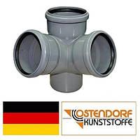 Крестовина двухплоскостная PP 110/110/110х67 внутренней канализации Ostendorf HT Германия