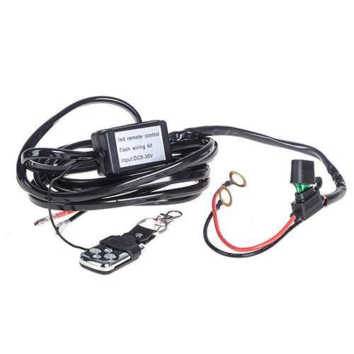 Провода питания  для доп. фар с брелком управления (09348)