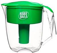 Фильтр кувшин для очистки воды НАША ВОДА Максима - зеленый
