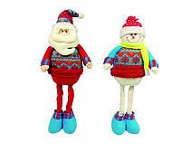Дед Мороз, Снеговик  54см, в ящ. микс 2 вида(цена за шт.)