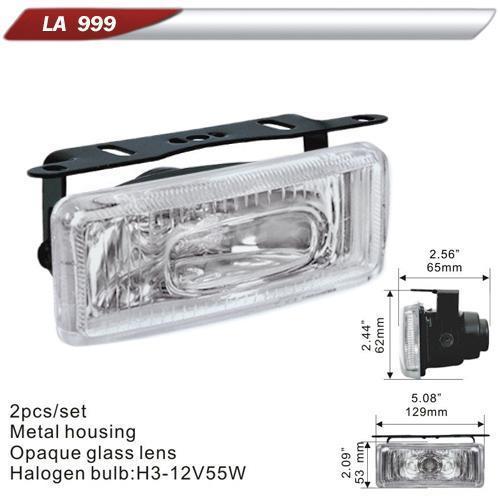Фара дополнительная  DLAA  999-W/H3-12V-55W/129*53mm (LA 999-W)