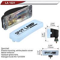 Фара дополнительная  DLAA 1021-RY/H3-12V-55W/170*54mm/крышка (LA 1021-RY)