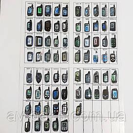 Чехол на корпус пульта сигнализации кожаный, 73 вида