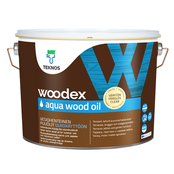 Масло для дерева Teknos Woodex Aqua Wood Oil 9 л