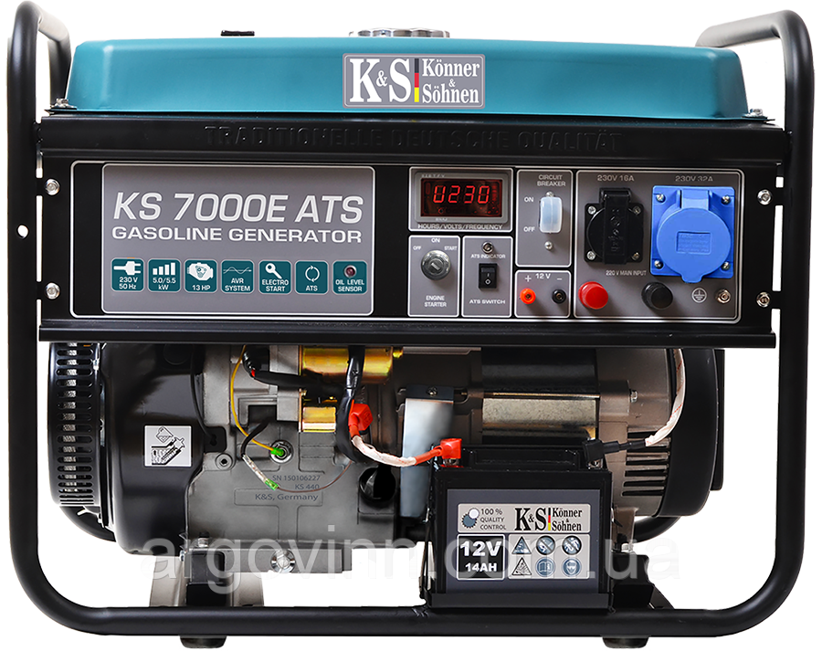 Бензиновий генератор KS 7000E ATS (АВР - автоматичне введення резерву)
