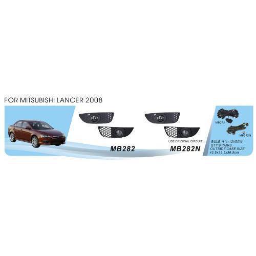 Фары доп.модель Mitsubishi Lancer 2007/MB-282N/H11-55W/эл.проводка (MB-282N)