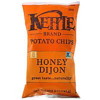 ОРИГІНАЛ!Kettle Foods,Картопляні чіпси,мед і діжонська гірчиця 141 грам виробництва США