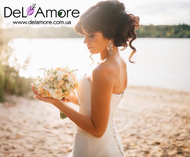 Свадебный букет невесты, бутоньерка, флористика для свидетельницы