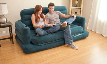 Надувной диван-трансформер Intex 68566, раскладной диван на 2 спальных места, 231 х 193 х 71, фото 2