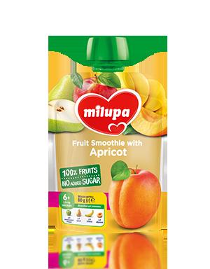 """Дитяче пюре фруктове """"Яблуко, Груша, Банан і Абрикос"""" Milupa 80г, від 6 міс. м'яка уп.НОВИНКА!!!"""