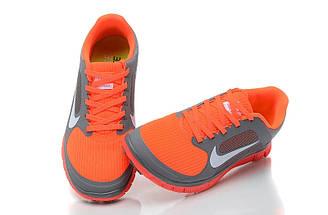 Кроссовки Free Run 4.0 V3 серый/оранжевый