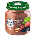 """Пюре GERBER """"Органічні яблуко і малина"""" 125 г, фото 2"""