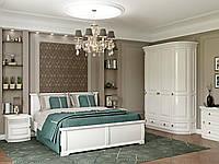 Белый спальный гарнитур Омега из дерева, фото 1