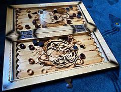"""Нарди """" Тигр vs Лев """", ручна робота, фото 2"""
