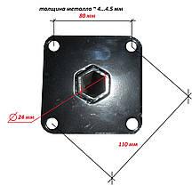 Шестигранная полуось на мотоблок Ø 24 мм длина 120 мм, фото 3