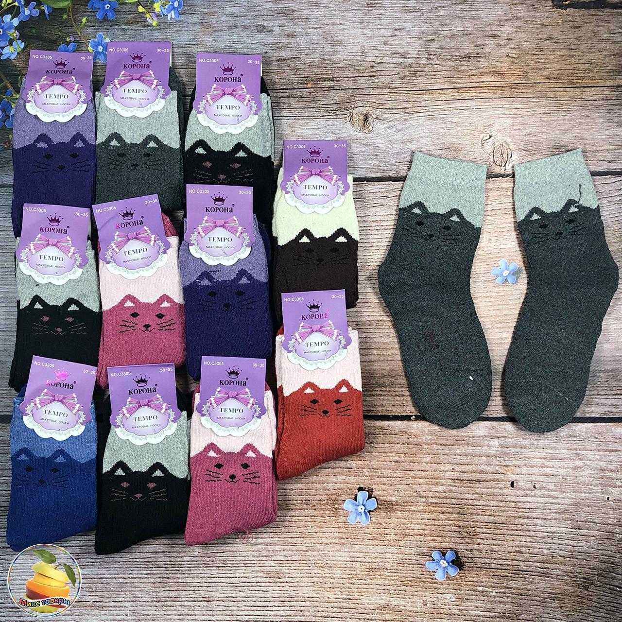 """Махровые носки """"Кошка"""" для подростка Размер: 36- 41 см (20925-2)"""