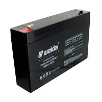 Weida 6V 7Ah: защита клемм от коррозий, повышенная устойчивость к вибрациям