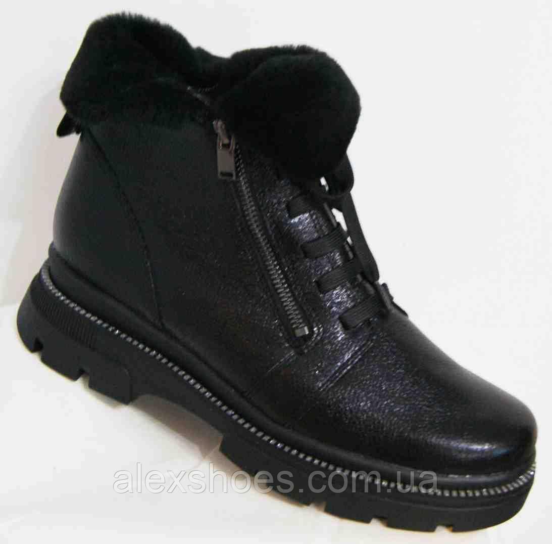 Ботинки женские зимние из натуральной кожи большого размера от производителя модель В5306-10