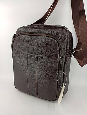 Мужская кожаная сумка планшет через плечо 1239