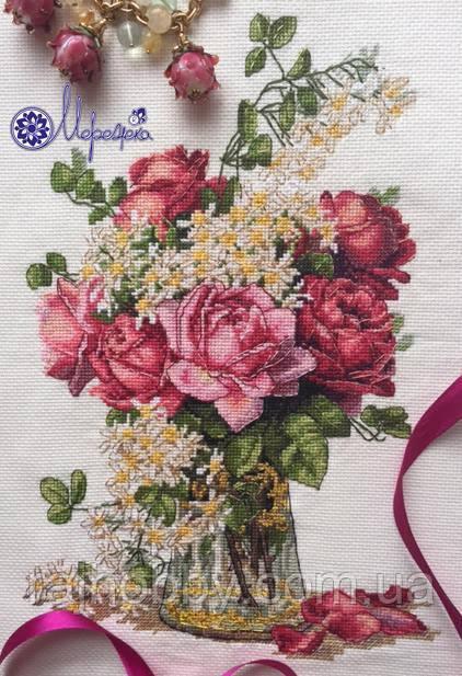 Мережка Набор для вышивки нитками Троянди К-39