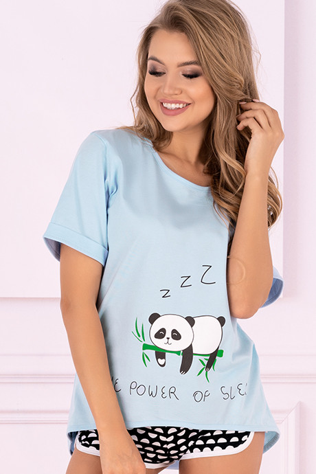 Домашний комплект Livia Corsetti Mrs. Panda - голубой