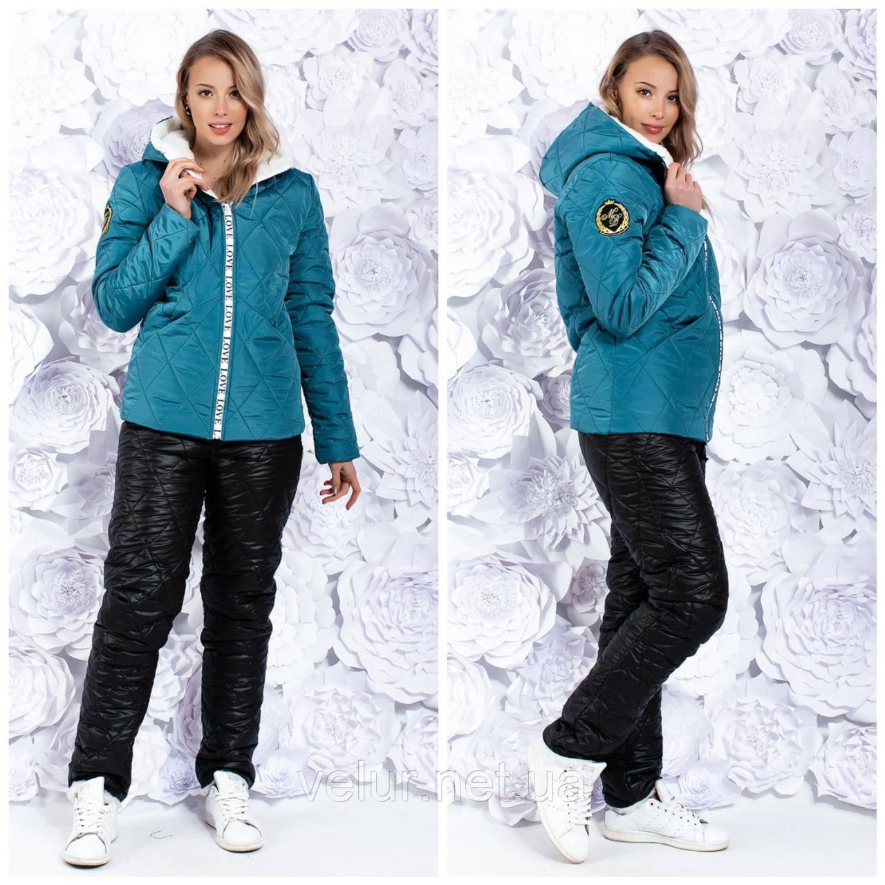 Зимовий жіночий лижний костюм про-во Україна, 3 кольори , розмір 50-52,54-56
