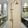 Душевая система Deco 6135 DBR бронза в античном стиле  из латуни для ванной комнаты, фото 10