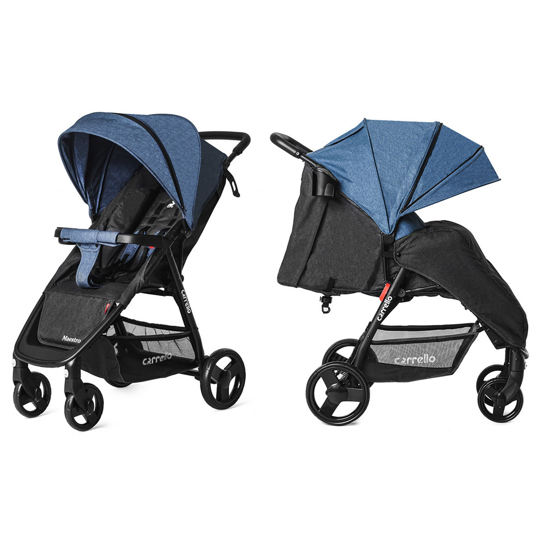 Прогулочная коляска CARRELLO Maestro CRL-1414/1 Water Blue в льне +дождевик L