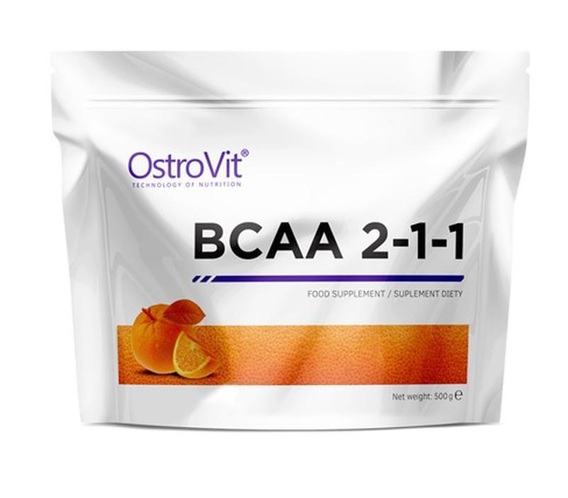 Амінокислоти bcaa OstroVit BCAA 2-1-1 500 g зі смаком