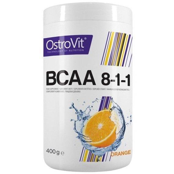Амінокислоти bcaa Ostrovit BCAA 8:1:1 400 g зі смаком
