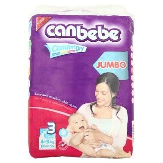 Подгузники для детей CANBEBE 3 (4-9 кг) 62 шт. Jumbo Midi (8690742100896)