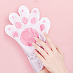 Восстанавливающая маска-перчатки для рук Luofmiss Nicotinamide Goat Milk 35 g (упаковка 3 штуки), фото 3