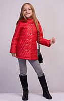 """Детская весенняя куртка """"Фиона"""", красная; 104-110, 116, 140 размеры"""