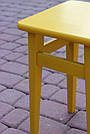 """Табуретка обідня бук """"жовта"""" (45*30*30), фото 3"""