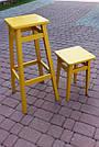 """Табуретка обідня бук """"жовта"""" (45*30*30), фото 4"""
