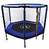 Батут Atleto 140 см шестиугольный с сеткой синий
